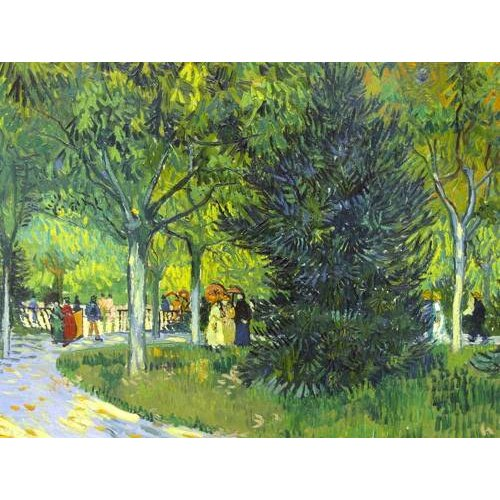 pinturas de paisagens - Quadro -Path in the park, 1888-