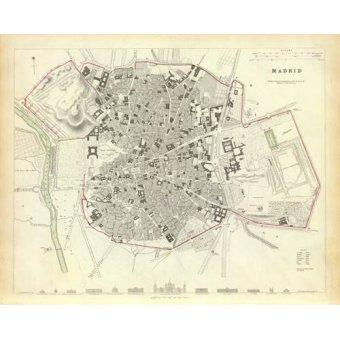 - Tableau -Madrid 1831- - Anciennes cartes