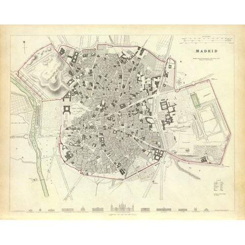 imagens de mapas, gravuras e aquarelas - Quadro -Madrid 1831-