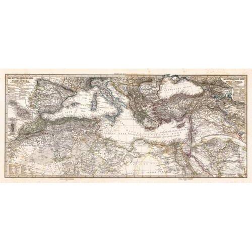 Tableau -Mar Mediterraneo y Norte de Africa (1875)-
