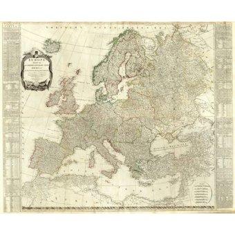 Tableaux cartes du monde, dessins - Tableau -Europa (1787)- - Anciennes cartes
