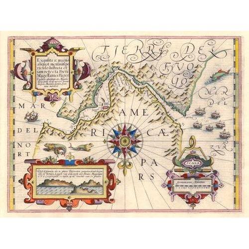 Tableau -Estrecho de Magallanes (Jodocus Hondius)-