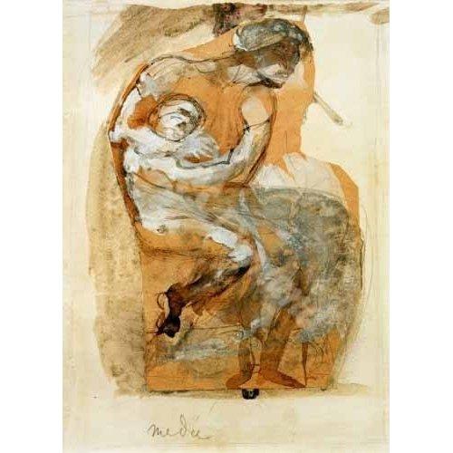 pinturas do retrato - Quadro -Medea-