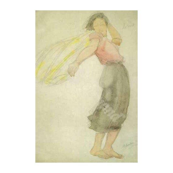 pinturas do retrato - Quadro -The Wind-
