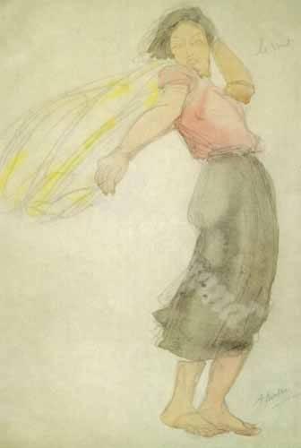 tableaux-de-personnages - Tableau -The Wind- - Rodin, Auguste