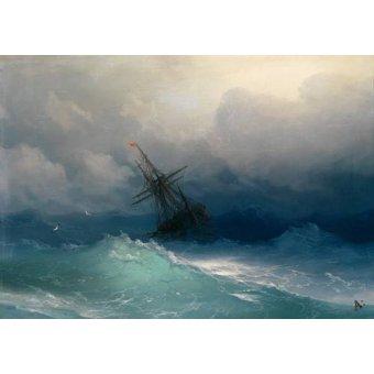 - Tableau -Ship on Stormy Seas- - Aivazovsky, Ivan Konstantinovich