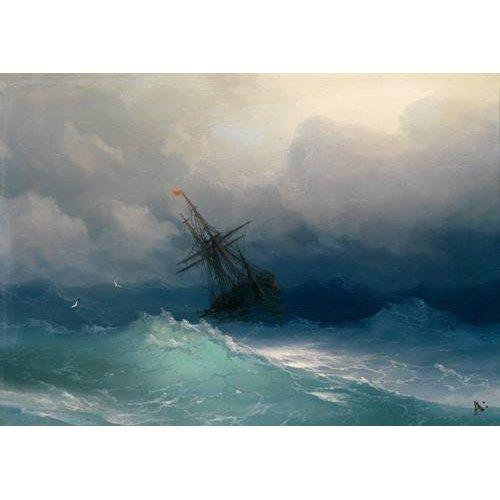 Tableau -Ship on Stormy Seas-