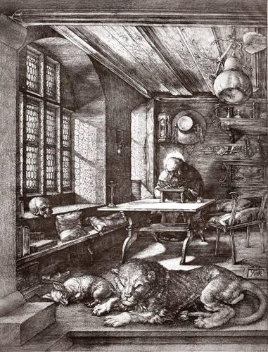 tableaux-cartes-du-monde-dessins - Tableau -San Jeronimo en su estudio- - Dürer, Albrecht (Albert Durer)