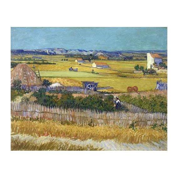 pinturas de paisagens - Quadro -The harvest, 1888-