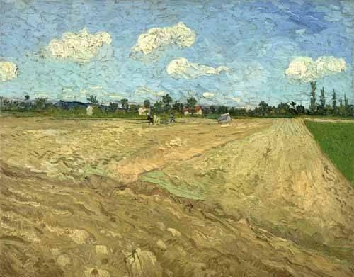 tableaux-de-paysages - Tableau -Champs labourés (Les sillons), 1888- - Van Gogh, Vincent