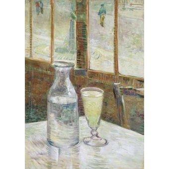 Tableaux nature morte - Tableau -Table de café avec absinthe, 1887- - Van Gogh, Vincent