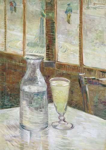 tableaux-nature-morte - Tableau -Table de café avec absinthe, 1887- - Van Gogh, Vincent