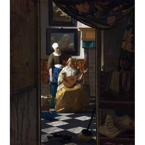 Tableau -La Lettre d'amour, 1669-
