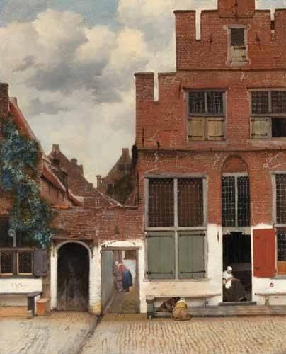 tableaux-de-paysages - Tableau -La Ruelle, 1658- - Vermeer, Johannes