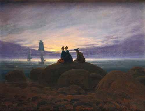 tableaux-de-paysages-marins - Tableau -Moonrise over the Sea, 1822- - Friedrich, Caspar David