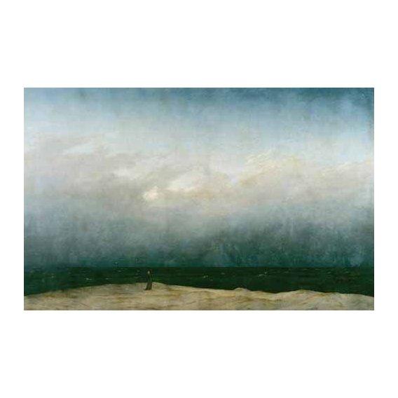 pinturas de paisagens marinhas - Quadro -Monk by the Sea, 1810-