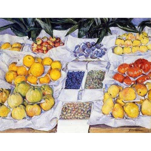 Tableau -Fruta expuesta en un mostrador-