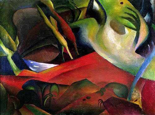 tableaux-abstraits - Tableau -The storm, 1911- - Macke, August