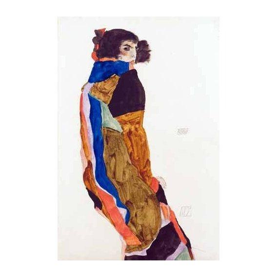 pinturas do retrato - Quadro -Moa, 1911-