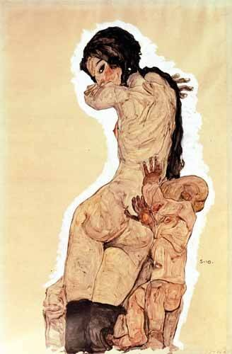 tableaux-de-personnages - Tableau -Mother and Child, 1910- - Schiele, Egon