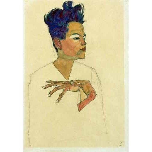 Tableau -Self-Portrait with Hands on Chest, 1910-
