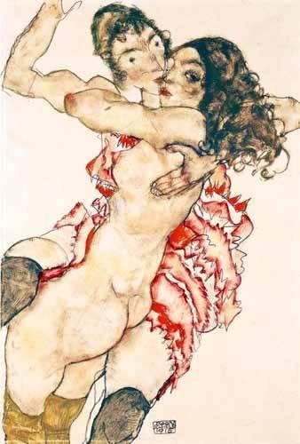 tableaux-de-personnages - Tableau -Untitled- - Schiele, Egon