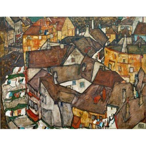 pinturas de paisagens - Quadro -A Village-