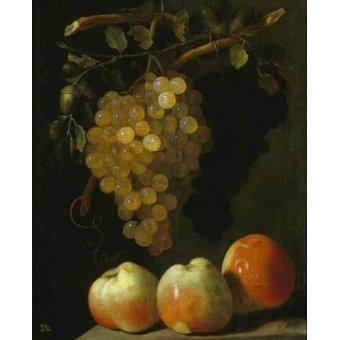 Tableaux nature morte - Tableau -Bodegon con uvas y manzanas- - Espinosa, Juan Bautista