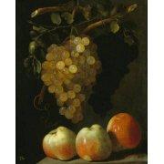 Tableau -Bodegon con uvas y manzanas-