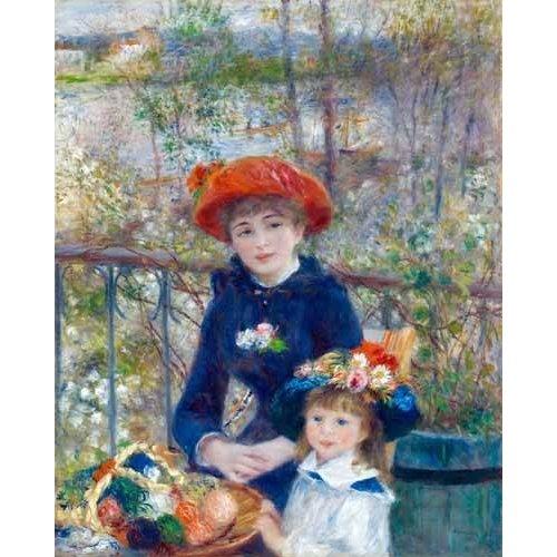 Tableau -Les Deux Sœurs ou Sur la Terrasse, 1881-