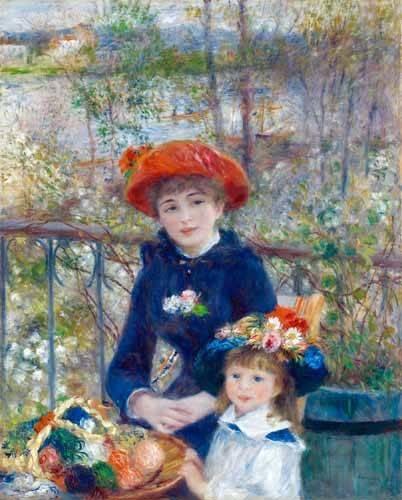 tableaux-de-personnages - Tableau -Les Deux Sœurs ou Sur la Terrasse, 1881- - Renoir, Pierre Auguste