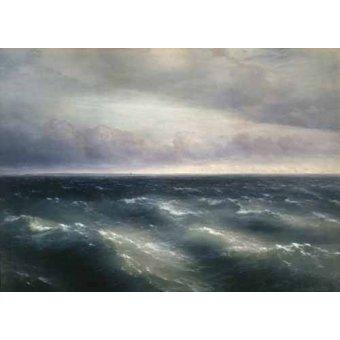Tableaux de paysages marins - Tableau -The Black Sea, 1881- - Aivazovsky, Ivan Konstantinovich