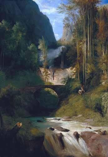 tableaux-de-paysages - Tableau -Gorge near Amalfi- - Blechen, Karl
