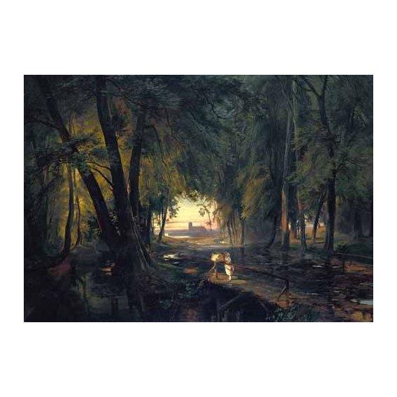 pinturas de paisagens - Quadro -Forest path near Spandau-