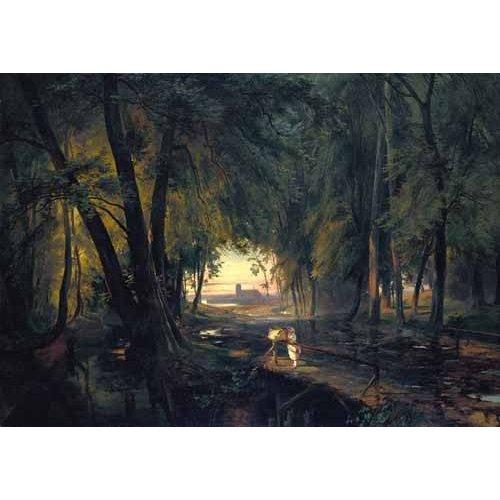 Tableau -Forest path near Spandau-