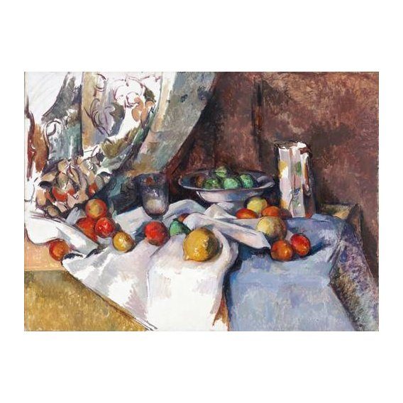 naturezas mortas - Quadro -Still Life with Apples, 1895-1898-