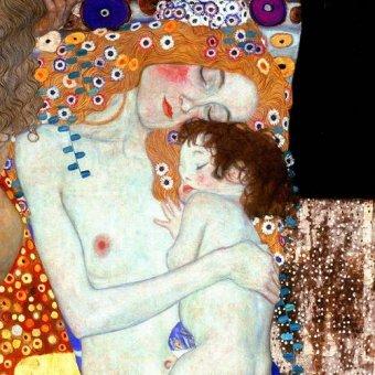 Tableaux de Personnages - Tableau -Les Trois Âges de la femme (Détail carré)- - Klimt, Gustav