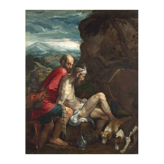 imagens religiosas - Quadro -El Buen Samaritano (The Good Samaritan)-
