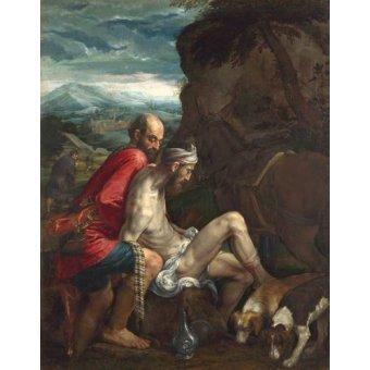Tableaux religieuses - Tableau -El Buen Samaritano (The Good Samaritan)- - Bassano, Jacopo da Ponte