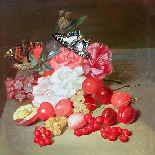 Tableau -Bodegon con cerezas y uvas-