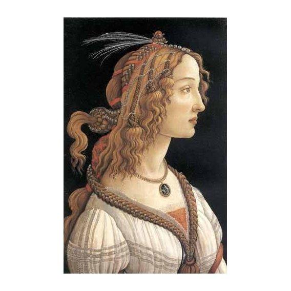 pinturas do retrato - Quadro -Retrato femenino-