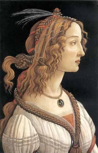 tableaux-de-personnages - Tableau -Retrato femenino- - Botticelli, Alessandro