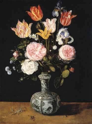 tableaux-de-fleurs - Tableau -Florero- - Bruegel