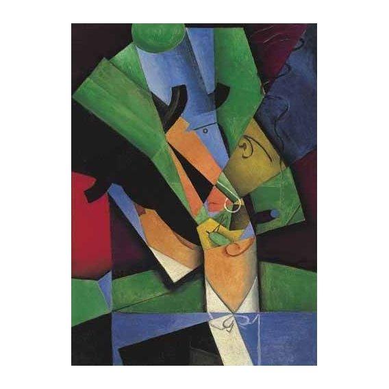 pinturas abstratas - Quadro -El Fumador, 1913-