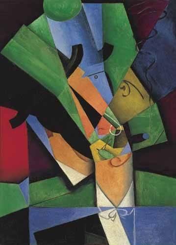 tableaux-abstraits - Tableau -Le Fumeur, 1913- - Gris, Juan