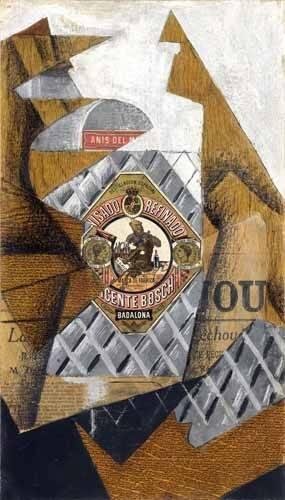 tableaux-nature-morte - Tableau -La botella de anis- - Gris, Juan