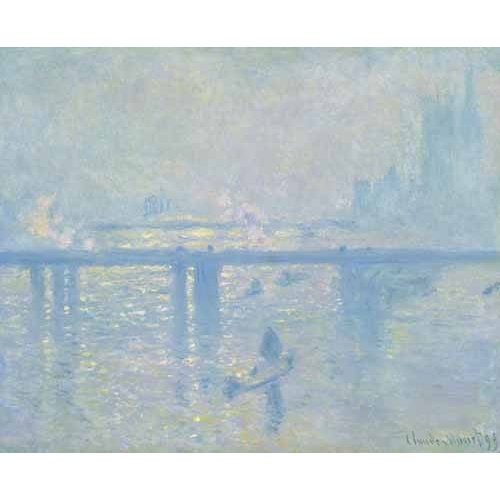 pinturas de paisagens - Quadro -Charing Cross Bridge, 1899-