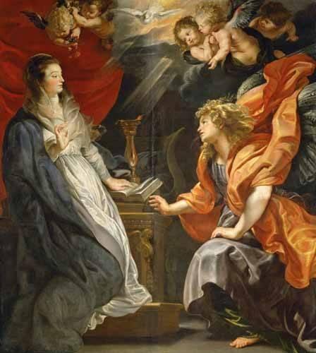 tableaux-religieuses - Tableau -L'annonciation, 1609- - Rubens, Peter Paulus