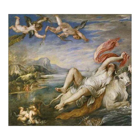 pinturas do retrato - Quadro -El rapto de Europa-