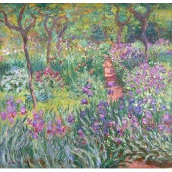 Tableau -Le Jardin aux iris, Giverny-